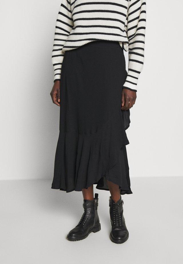 FRANCINE - Gonna a campana - black
