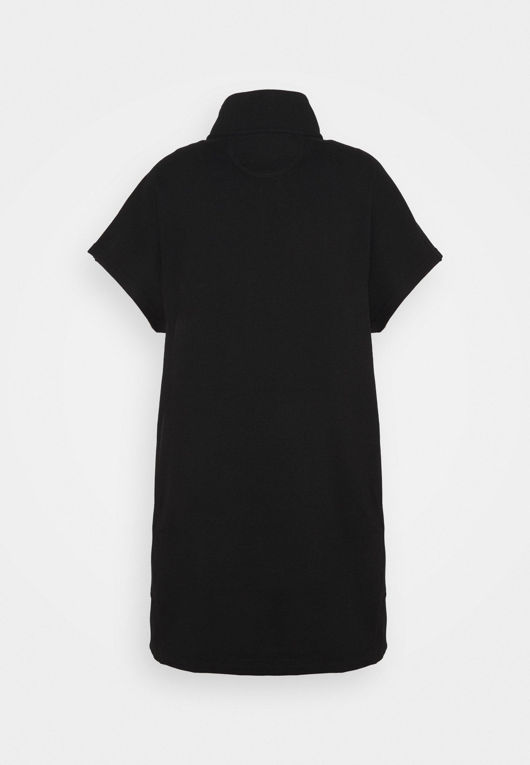 Women LACQUER LOGO HALF ZIP DRESS - Day dress