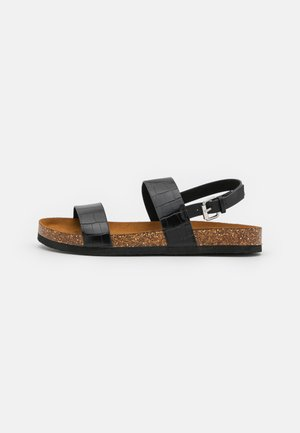 ONLMAXI CROCK SLINGBACK - Sandals - black