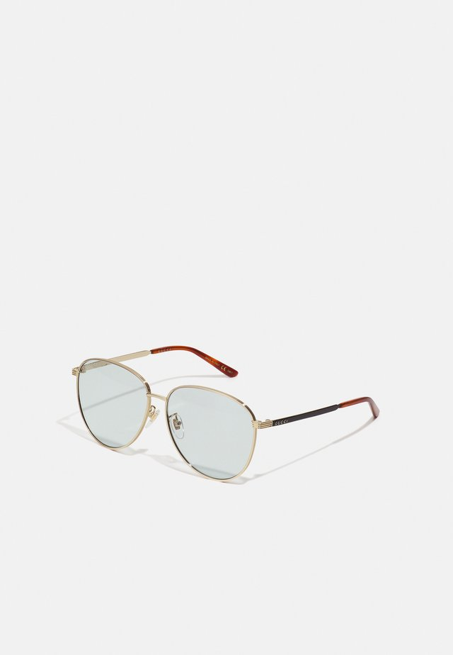 UNISEX - Sunglasses - gold-coloured/black/light blue
