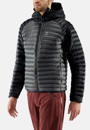 HAGLÖFS ISOLATIONSJACKE ESSENS MIMIC HOOD MEN - Winter jacket - true black/magnetite