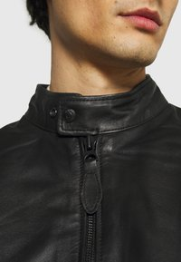 Schott - BIKER - Leather jacket - black - 6