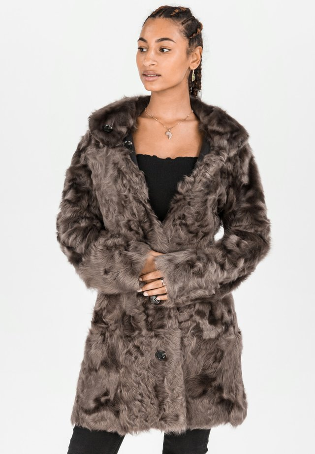 Winter coat - dunkelbraun