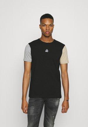 CANON TEE - T-shirt basique - jet black/grey marl/sand