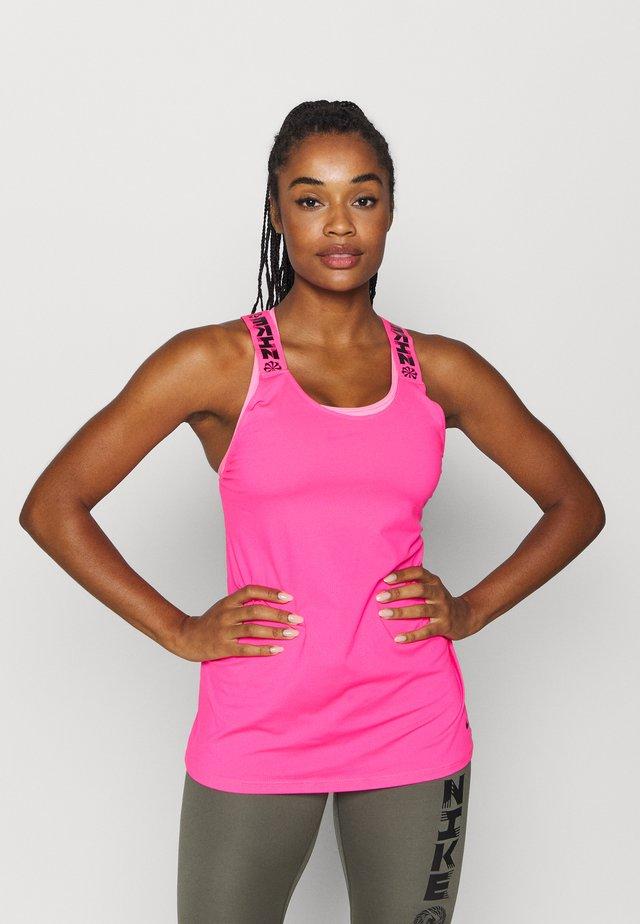 ELASTKIA - T-shirt sportiva - hyper pink/black