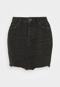ONLY Tall - ONLSKY LIFE MINISKIRT STRAIGHT - Denimová sukně - black denim - 0