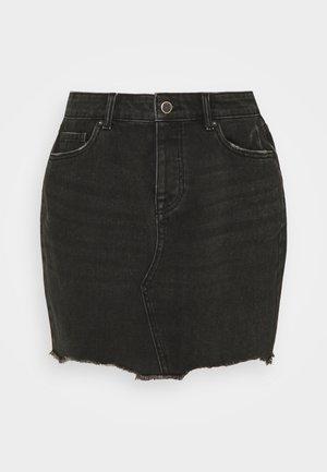 ONLSKY LIFE MINISKIRT STRAIGHT - Denimová sukně - black denim