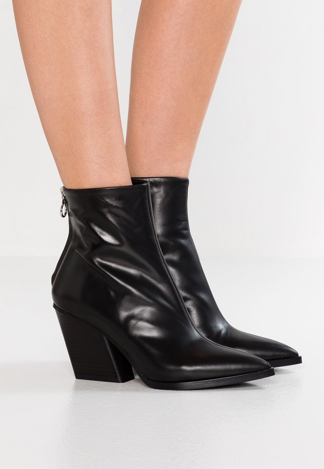 CHERRY - Cowboy/biker ankle boot - black