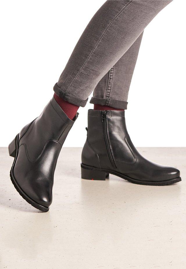 SCHUHE MIT BLOCKABSATZ - Korte laarzen - schwarz