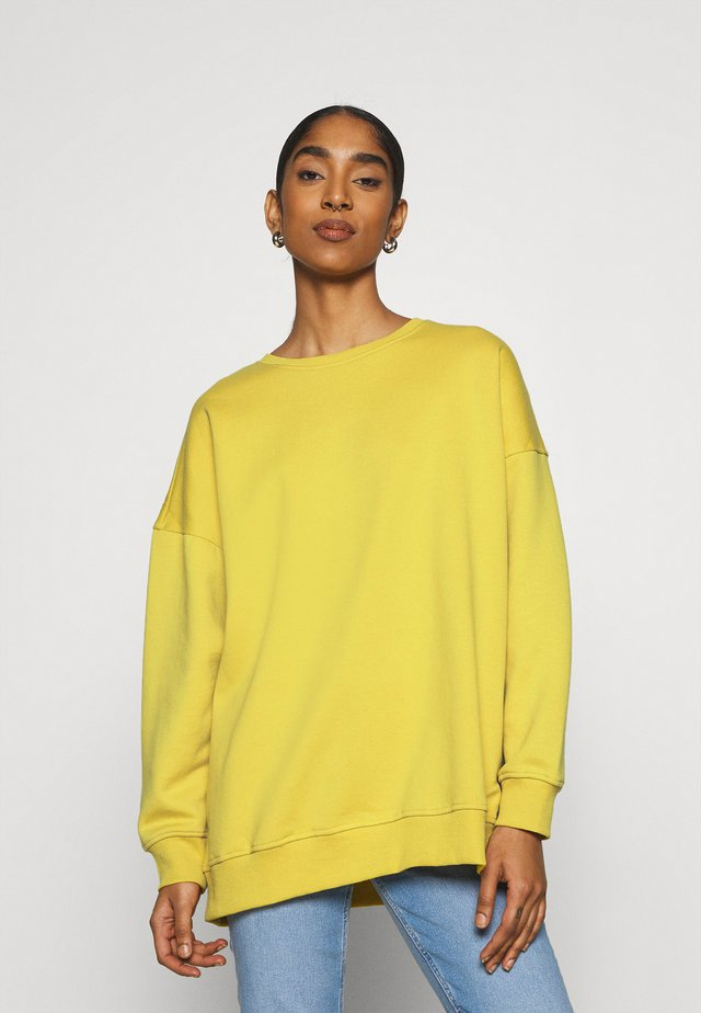 ONYFAVE LIFE O-NECK OVERSIZED  - Felpa - oil yellow
