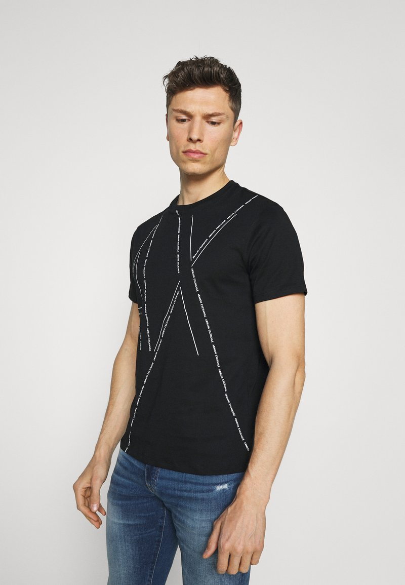Armani Exchange - T-shirt con stampa - black