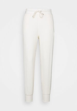 WAFFLE - Tracksuit bottoms - softantique white