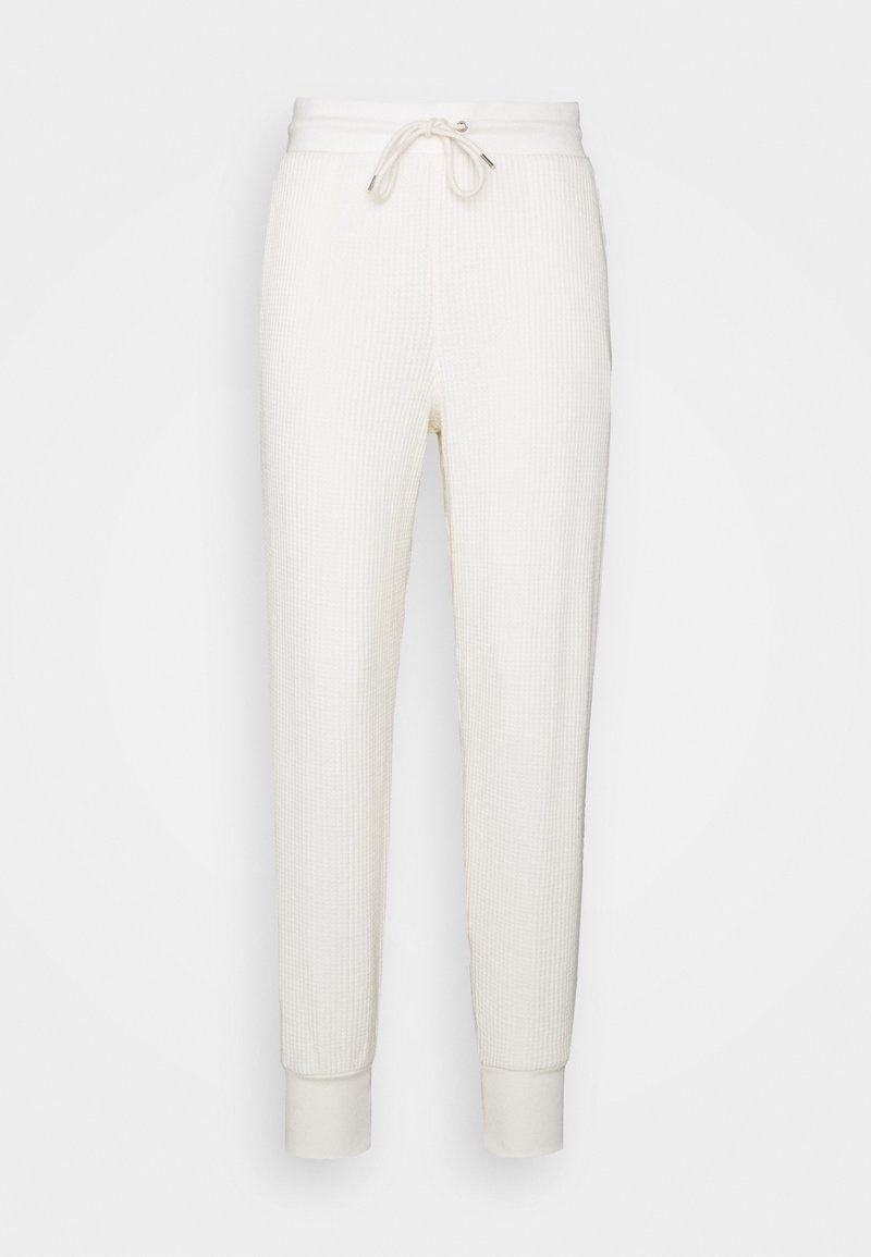 GAP - WAFFLE - Tracksuit bottoms - softantique white