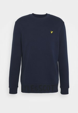 BOTTOM BRANDED CREW NECK - Sweatshirt - navy
