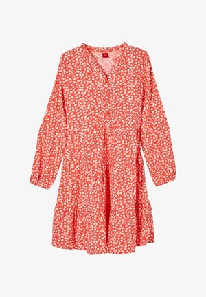 Shirt dress - orange aop