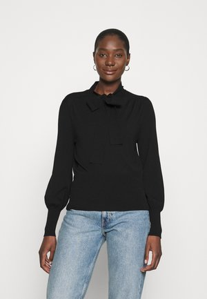 TIE NECK TRONSAN - Jumper - black