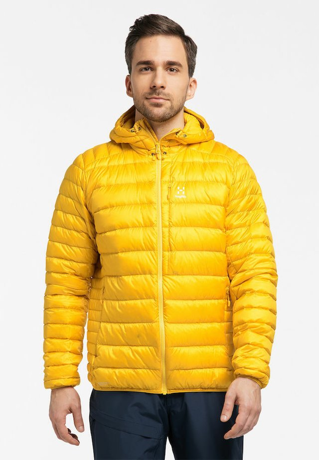 ROC DOWN HOOD - Down jacket - pumpkin yellow