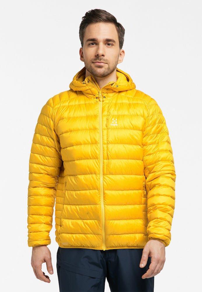 Haglöfs - ROC DOWN HOOD - Down jacket - pumpkin yellow