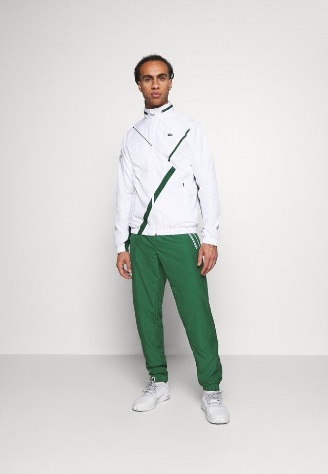 SET TENNIS TRACKSUIT HOODED - Trainingsanzug - white/green
