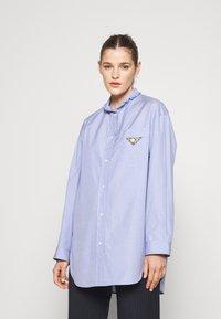 sandro - Button-down blouse - bleu ciel - 0