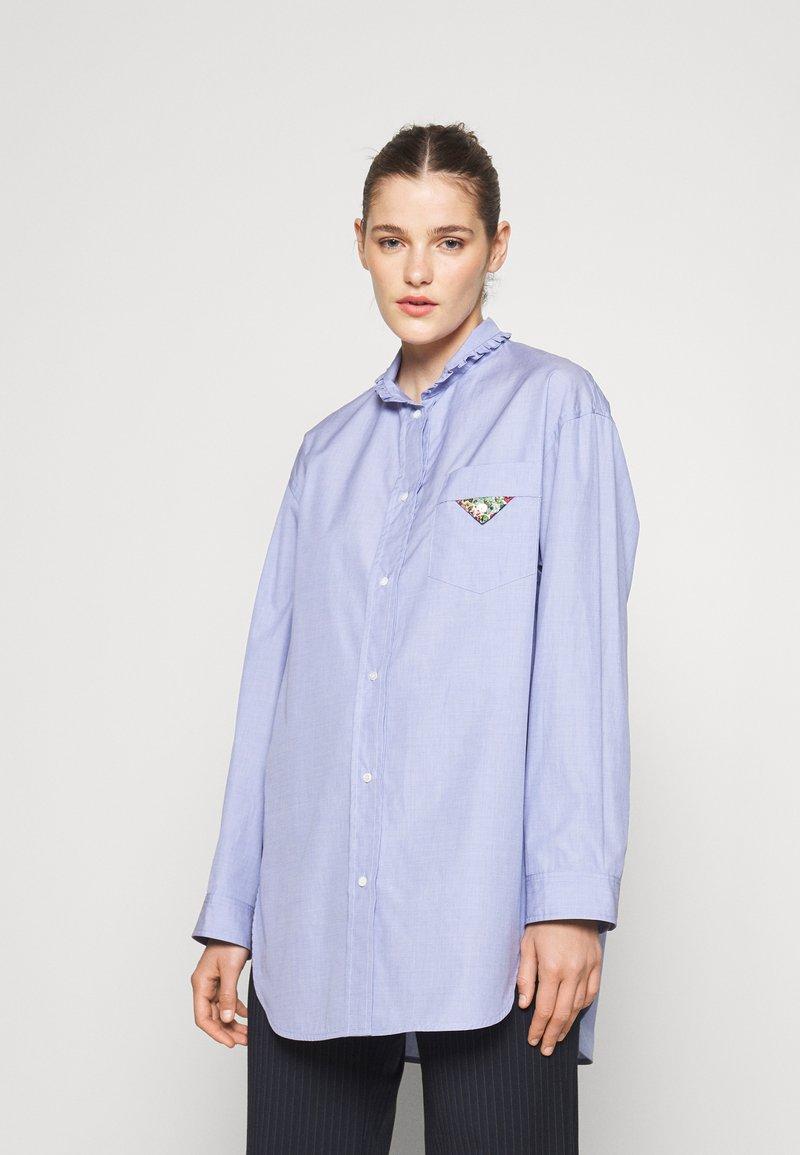 sandro - Button-down blouse - bleu ciel