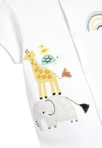 Next - 3 PACK GOTS ORGANIC COTTON ANIMAL ROMPERS - Jumpsuit - white - 5