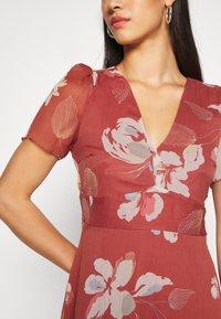 Vero Moda - V NECK DRESS - Day dress - marsala - 5