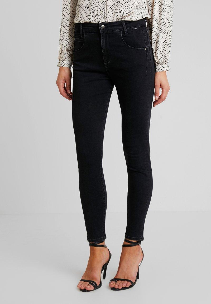 Mavi - ADRIANA - Jeans Skinny Fit - black denim