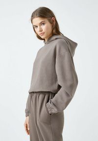 PULL&BEAR - Sweat à capuche - dark brown - 3