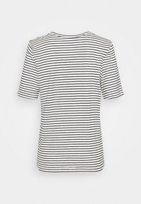 Selected Femme - SLFBELIVE TEE - Print T-shirt - snow white/black - 1