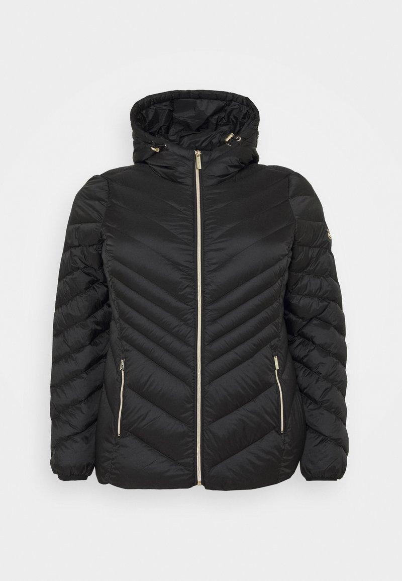 MICHAEL Michael Kors - SHORT PACKABLE CHEVRON - Down jacket - black