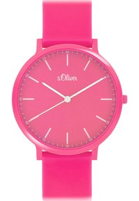s.Oliver - S.OLIVER UNISEX-UHREN ANALOG QUARZ - Watch - pink - 0