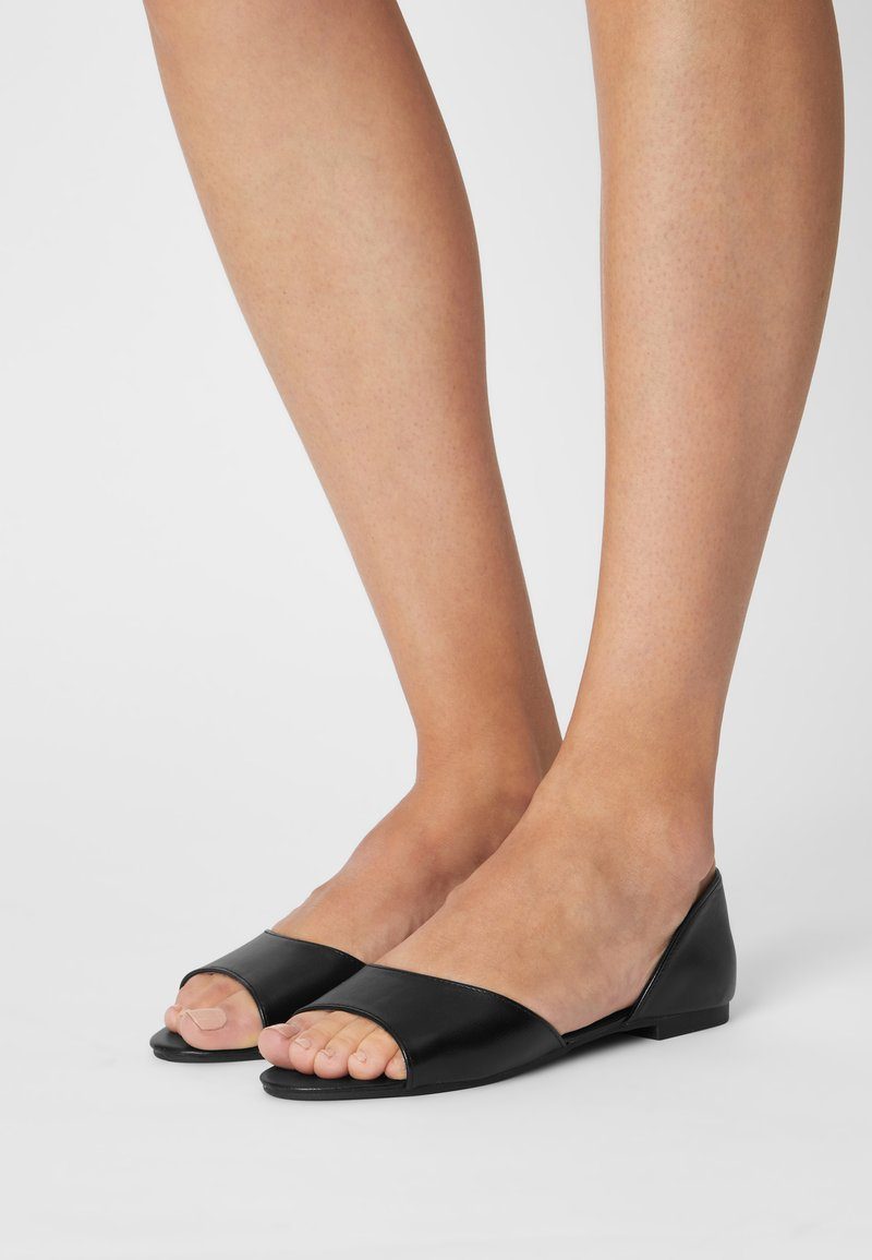 Nly by Nelly - Peeptoe ballet pumps - black