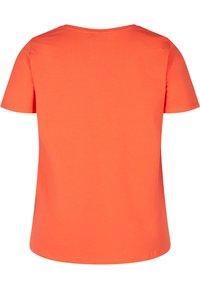 Zizzi - Basic T-shirt - coral - 5