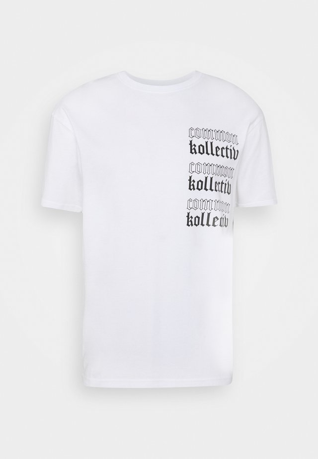 GOTHIC TEE UNISEX - Print T-shirt - white