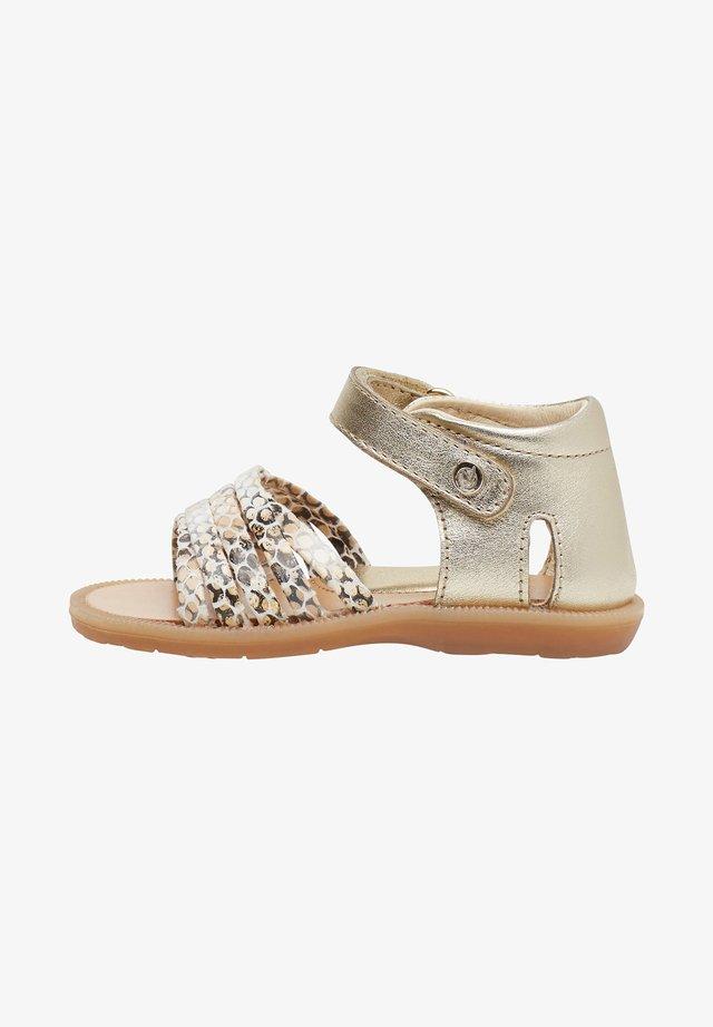 RUBINO CON STAMPA PITONE - Sandals - gold