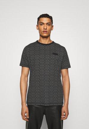 ESSENTIAL - Print T-shirt - charcoal signature