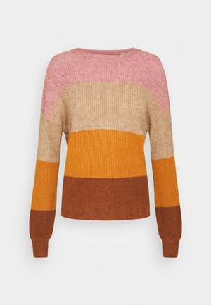 ONLSANDY STRIPE - Jumper - dusty rose/pumice stone/pump