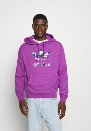 SPORTS INSPIRED REGULAR HOODED - Hoodie - shock purple/multicolor