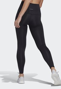 adidas Performance - FEELBRILLIANT DESIGNED TO MOVE TIGHTS - Leggings - black/white - 1