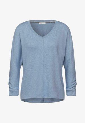 MIT RAFFUNG - Long sleeved top - blau