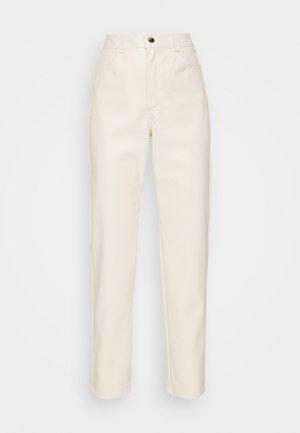 HIGH WAIST PANTS - Kalhoty - beige