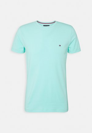 STRETCH SLIM FIT TEE - T-shirt basic - miami aqua