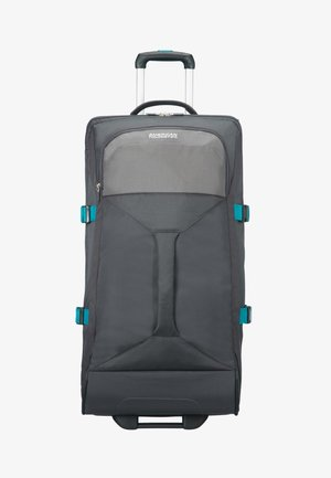 MIT ROLLEN - Luggage - grey/turquoise