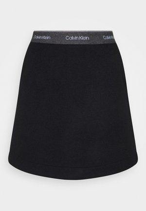 DOUBLE FACE SKIRT - Minisukně - black