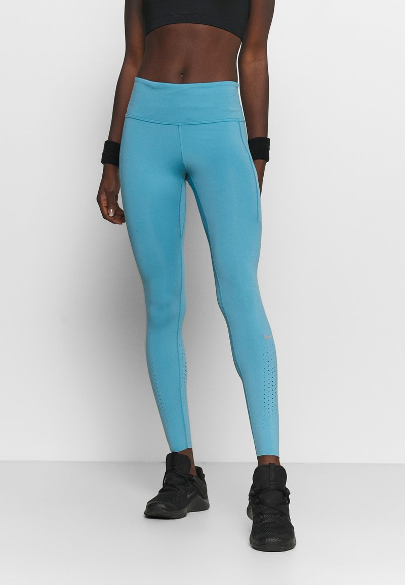 Nike Performance - EPIC LUXE - Tights - cerulean/reflective silver