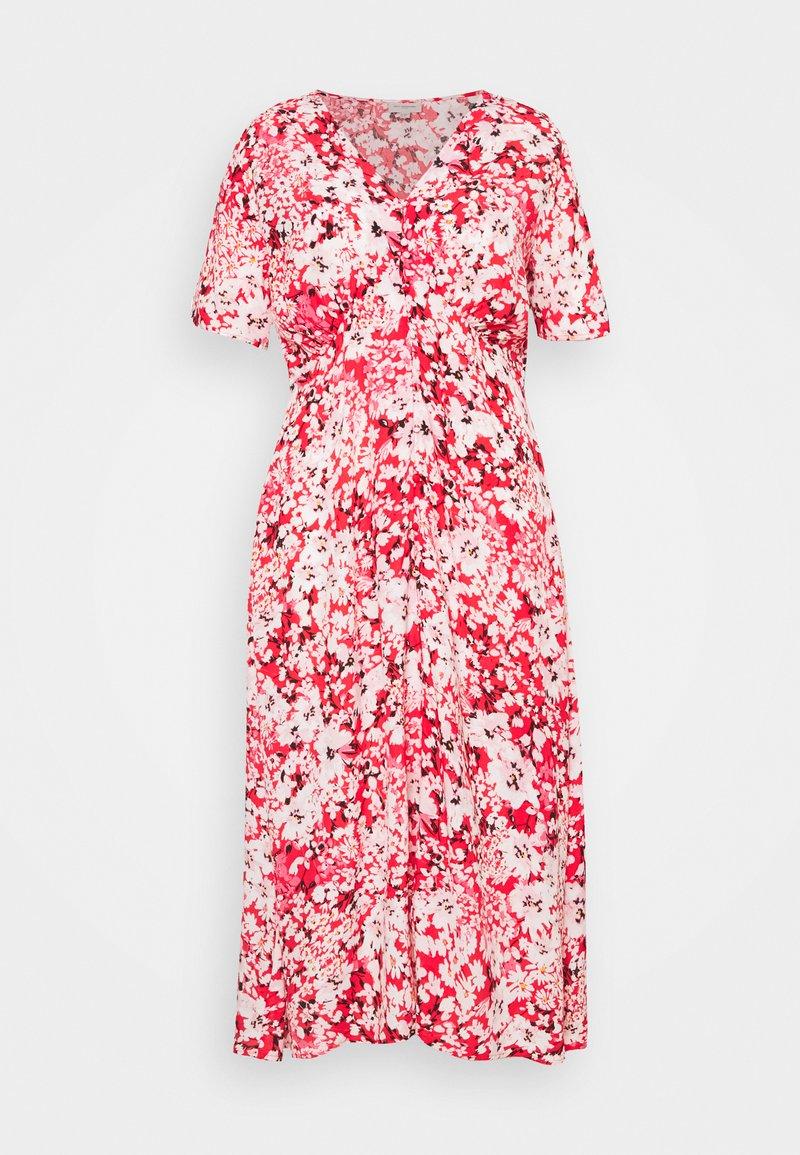 ONLY Carmakoma - CARENOLA MIDI DRESS - Shirt dress - high risk red