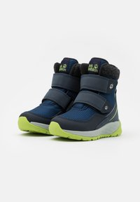 Jack Wolfskin - POLAR BEAR TEXAPORE MID UNISEX - Winter boots - blue/lime - 1