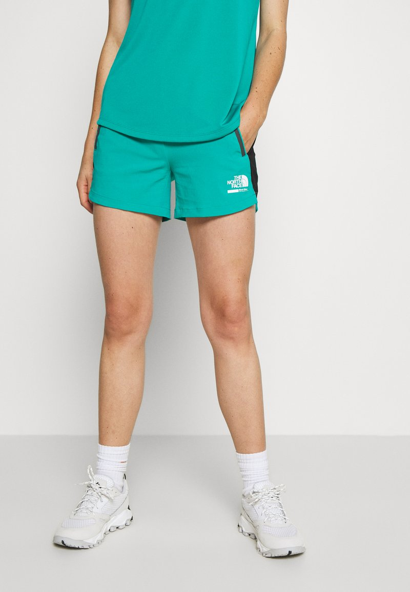 The North Face - WOMENS GLACIER - Outdoor Shorts - jaiden green