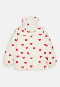 Mini Rodini - HEARTS PICO PUFFER JACKET - Zimní bunda - off white - 1